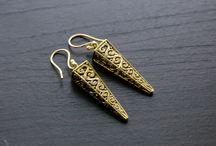 Brass jewelry /  Handmade jewelry, Handmade Necklace, Indian jewelry, South Indian Jewelry, Kundan jewelry, Kundan Necklace, Brass earring, brass jewelry