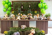 Jungle  baby shower ideas / A vintage jungle baby shower for a very special arrival . Gender neutral