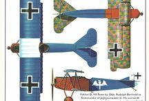 WW1 aircraft - coloring