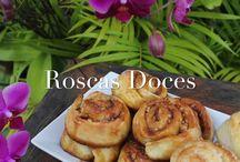 Roscas e pães Doces.