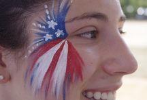 Schminken Amerikaanse Vlag