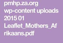 1ste 1000 dae ma-tot-ma ondersteuning / Idees vir mamma-ondersteuning geleenthede