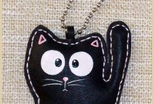 брелок кошка