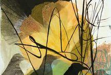 gelli plate, / voorbeelden van mogelijkheden van gelli plate, ter inspiratie