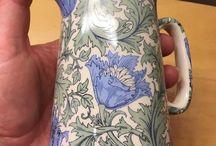 Heron Cross Pottery Jug Anemone