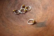 (making) stitch markers & buttons / stitch markers