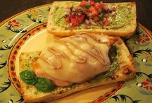 Good Eats! / This is my Bruschetta Chicken Sandwich recipe. You may find it at this link; http://letthefeastybegin.blogspot.com/2012/06/bruschetta-chicken-sandwich.html