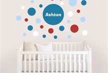 Wall Decals / Create your own personalized wall decals that are reusable and easily repositioned to create a sense of fun in any nursery or kids room. Personalize your own at NameBubbles.com  / by Name Bubbles