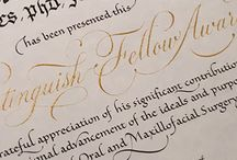 Calligraphy handwriting