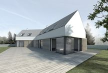 L shape house