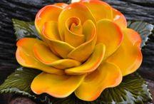 bloemen in klei