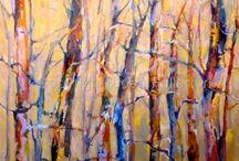 Aspen Tree Paintings by Joan Fullerton Artist / Aspen Tree Paintings by Joan Fullerton Artist