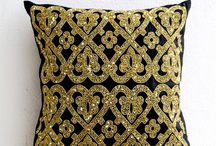 shiny gold pillow