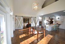 Decorative Barn Door Inspiration / Great ideas for incorporating a decorative bar door into contemporary, transitional or classic interior designs.