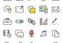 Icons / flat and design