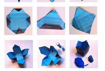 Folderier / Teknikker til flotte foldede ting , origami
