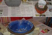 como hacer macetas de cemento..