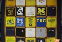 School Spirit T-Shirt Quilt / Some of our favorite High School and College T shirt quilts.