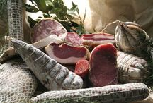 Meats, cured meats, hams and salami from Italy