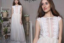 Lace chiffon maxi bridal bridesmaid dresses