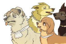 perros anime