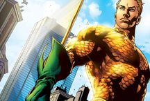 Aquaman / Although Aquaman's courage and decisive nature have proven him a true heir to Atlantis's throne, the continual conflict between land and sea makes him a citizen of both—and at home in neither. / by DC Comics