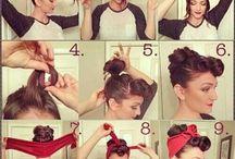 Hair with bandana