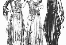 1910s baggy skirt