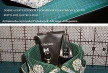 bolsa em tecidos