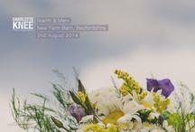 New Barn wedding / British flowers grown and arranged by Field Gate Flowers of Milton Keynes. Buckinghamshire,Northamptonshire and Bedforshire wedding florists http://www.fieldgateflowers.co.uk/wedding-flowers/