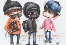 Fanart Chibi Drawing #INFINITE / Traditional Drawing: Pencil, Pencil Color, Water Color, Oil, Spidol Etc