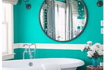 a turquoise bathroom