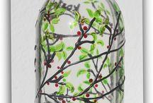 mauritz hand made / festett uveg es porcelan