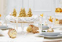 Table de Réveillon, décoration de Noël / Idées pour décorer la table de Réveillon pour surprendre votre famille et vos invités. La table des festivités est la reine de la soirée !