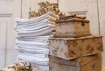 French Fabric Covered Boxes / by Sandee Boggess