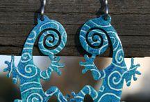 Lizard earrings