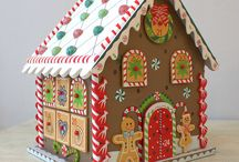 paper clay gingerbread house