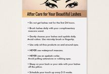 Eyelashes cards