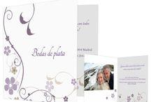 Invitaciones para bodas de plata / Descubre las más elegantes invitaciones para la celebración de tus bodas de plata.