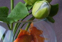 рыбка в аквариуме с полимерной глины