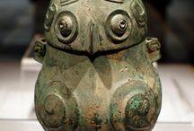 bronze vessel owls