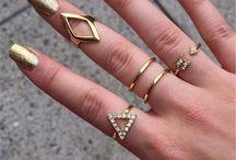 5 Piece Punk Geometry Rings