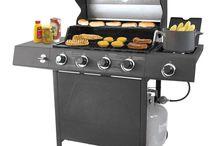BBQ Gas Grill Barrel Backyard Outdoor Patio Garden Barbeque Burger Side 4 Burner