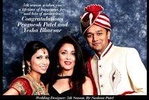 Mandir Wedding / 5th season wishes you a lifetime of happiness, joy, and lots of memories. Congratulations Pragnesh Patel and Yesha Bhavsar.
