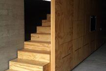 Stairs / stairs wood steel