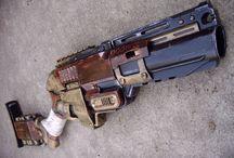 modded nerf guns / samotné nerf blastery nevypadají moc dobře, ale když se trochu vytuní a přebarví...
