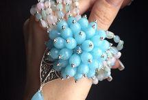 браслеты голубые синие