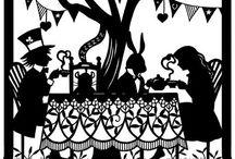 Alice in W: Silhuett / Alice in wonderland, silhuett & paperclip