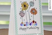 Funky Flower Cards with Sequins
