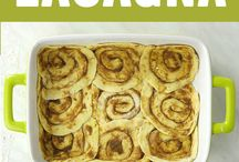 recipes to try Cinnamon rolls Lasgne
